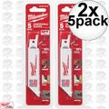 "Milwaukee 49-00-5410 2x 5pk 4"" X 8 TPI Hackzall Multi-Purpose Blades"