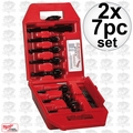 Milwaukee 49-22-0130 2x 7pc Contractor's Bit Kit
