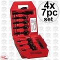 Milwaukee 49-22-0130 4x 7pc Contractor's Bit Kit