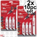 Milwaukee 49-22-0220 2pk 10pc Set M12 Hackzall Blade Set