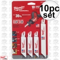 Milwaukee 49-22-0220 10pc M12 Hackzall Blade Set
