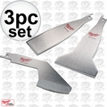 Milwaukee 49-22-5403 3pc Sawzall Scraper Blade Set