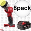 Milwaukee 49-24-2735 8pk M18 XC 4.0 Battery + Worklight