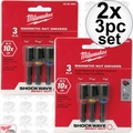 Milwaukee 49-66-4561 2x 3pc Shockwave Magnetic Nut Driver Set