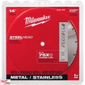 "Milwaukee 49-93-7840 14"" SteelHead Diamond Cut-Off Blade 5500RPM"