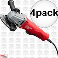 "Milwaukee 6141-31 4pk 11A 4-1/2"" Angle Grinder Paddle No LockOn"