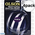 "Olson BM82164 4pk Metal Cutting Band Saw Blade 64-1/2"" x 1/2"" x 10/14"
