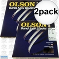 "Olson FB10493DB 2pk 93-1/2"" x 3/16""x4TPI Skip Tooth Flex Back Band Saw Blade"