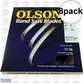 "Olson FB10493DB 8pk 93-1/2"" x 3/16""x4TPI Skip Tooth Flex Back Band Saw Blade"