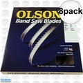 "Olson FB14882DB 8pk 82"" x 1/4"" x 14 TPI Flex Back Band Saw Blade"
