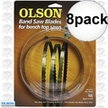 "Olson WB51659BL 8pk 59-1/2"" x 1/8"" x 14 TPI Band Saw Blade"