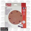 "Porter-Cable 736602225 25pk 6"" 220grit 6-Hole Sanding Disc"