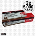 "Porter-Cable PBN18100 2x Box of 5,000 1"" 18 Gauge Galvanized Brad Nails"