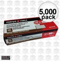 "Porter-Cable PBN18100 Box of 5,000 1"" 18 Gauge Galvanized Brad Nails"