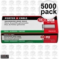 "Porter-Cable PBN18125 5,000pk 1-1/4"" 18 Gauge Galvanized Brad Nails"