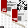 "Porter-Cable PNS18050 2x 5,000pk 1/2"" x 1/4"" 18 Gauge Narrow Crown Staples"