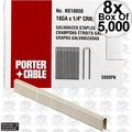 "Porter-Cable PNS18050 8x 5,000pk 1/2"" x 1/4"" 18 Gauge Narrow Crown Staples"
