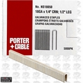 "Porter-Cable PNS18050 5,000pk 1/2"" x 1/4"" 18 Gauge Narrow Crown Staples"