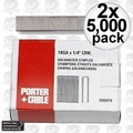 "Porter-Cable PNS18150 2pk 5,000 1-1/2"""" x 1/4"" 18G Narrow Crown Staples"