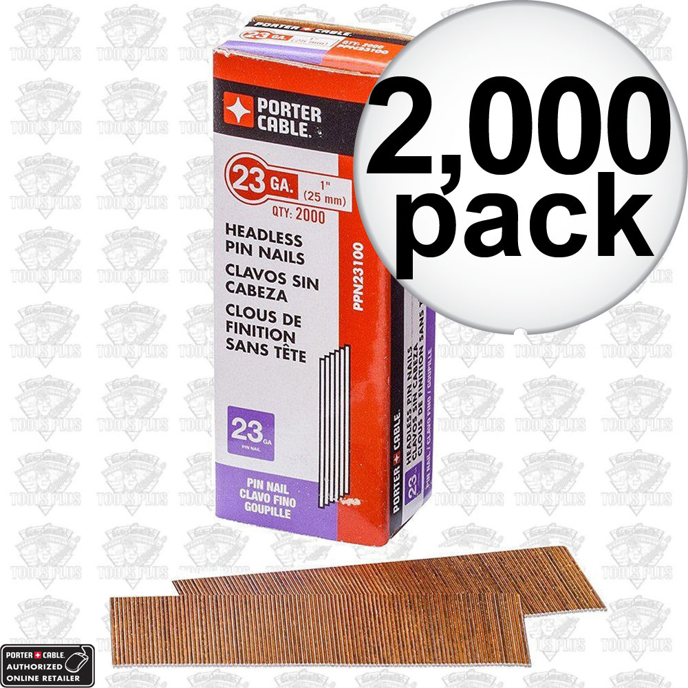 """Nail 2000: Porter-Cable PPN23100 1"""" 23 Gauge Pin Nails (2000 Count"""