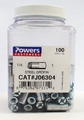 Powers Fasteners J06304 100pk 1/4 x 1 Steel Dropin