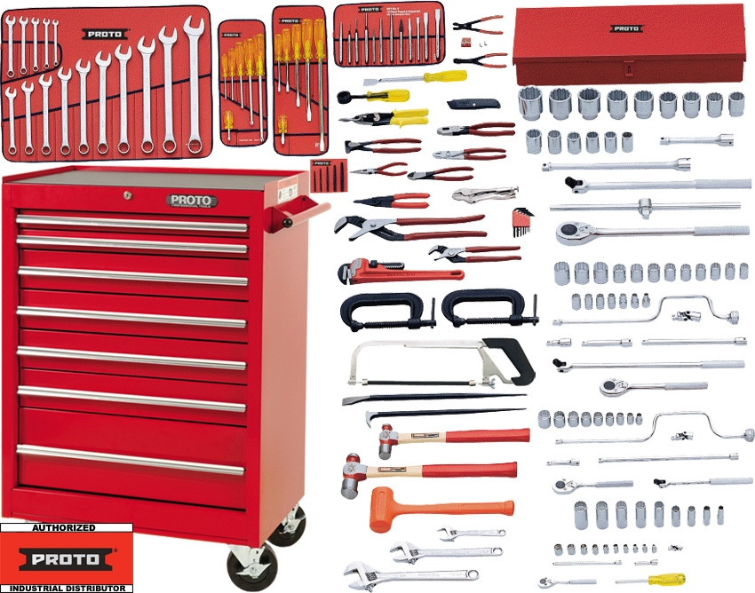 sc 1 st  Tools Plus & Proto J99702 Piece Starter Tool Set + Roller Cabinet J442742-7RD