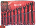 "Proto Tool J1200FBASD 14 Piece 3/8"" - 1-1/4"" Black Oxide Combination ASD Wrench Set"