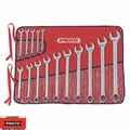 "Proto Tool J1200SPL 15 Piece 1/4"" - 1"" SAE Combination Wrench Set 12 Point"