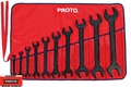 Proto Tool J3000HB 10 Piece Black Oxide Open End Wrench Set