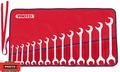 Proto Tool J3100B 14 Piece Full Polish Angle Open-End Wrench Set