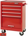 """Proto Tool J442742-4RD 4 Drawer 27"""" Red Roller Cabinet"""