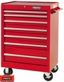 """Proto Tool J442742-7RD 7 Drawer 27"""" Red Roller Cabinet"""