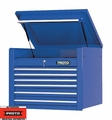 "Proto Tool J453427-6BL 6 Drawer 34"" Blue Top Chest"