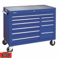 """Proto Tool J455041-10BLPD 10 Drawer 50"""" Blue Workstation with Power Drawer"""
