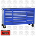 """Proto Tool J456741-18BLPD 18 Drawer 67"""" Blue Workstation with Power Drawer"""