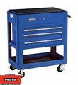 Proto Tool J459000-3BL 3 Drawer Heavy Duty Blue Utility Cart
