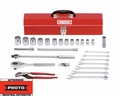 "Proto Tool J54128 1/2"" Drive 27 Piece Tool Set 12 Point"