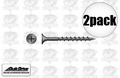 """Quik Drive DWC114PS 2pk 5,000 1-1/4"""" Phillips Collated Strip Screws + 2 Bits"""
