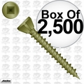 "Quik Drive WSC114S 2,500 1-1/4"" Coarse Square Drive Collated Screws + 2 Bits"