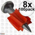 "Ramset 1508 8x Box of 100 1"" Head Drive Powder Fastener"