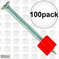 "Ramset 1524 1x Box of 100 3"" Head Drive Powder Fastener"