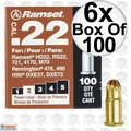 "Ramset 22CW 6pk Boxes of 100 #2 ""Brown"" .22 cal Single Shot Loads"