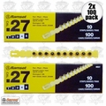 "Ramset 4RS27 2pk 10 Strips of 10 (200 total) #4 ""Yellow"" 27 cal Strip Loads"
