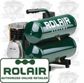 Rolair D2002HSSV5 2HP, 4.3 Gal Single Stage Air Compressor
