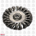 "Sait 06426 4"" x 5/8-11"" Twisted Wire Wheel Metal Brush"