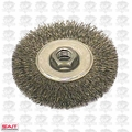 "Sait 06450 4"" x 5/8-11"" Crimped Wire Wheel Metal Brush"
