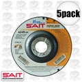 "Sait 22030 5pk 4-1/2"" x 7/8"" x 1/8"" Metal Cutting Pipeline Wheel"