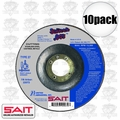 "Sait 22072 10pk 4-1/2"" x 7/8"" x .045"" Depressed Metal Cutting Wheel"