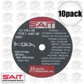 "Sait 23061 10pk 4"" x 5/8"" x 1/16"" Metal Cutting Wheel"
