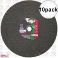"Sait 23458 10pk 14"" x 1/8"" x 20mm Ductile Portable Cut-Off Wheel"